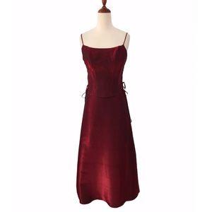 Vintage Iridescent Maxi Skirt + Corset Set